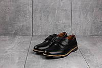 Туфли подростковые Yuves М5L черные (натуральная кожа, весна/осень), фото 1