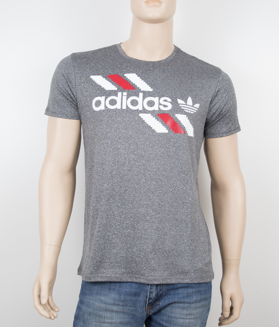 "Мужская футболка ""Вискоза"" Adidas 1901 серый"