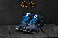 Кеды детские CrosSAV 19 синие-голубые (натуральная кожа, зима), фото 1