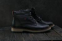 Ботинки мужские Brand Б-27 черные (натуральная кожа, зима), фото 1