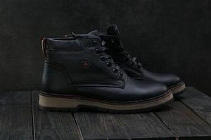 Ботинки Brand Б-27 (Ecco) (зима, мужские, натуральная кожа, черный)