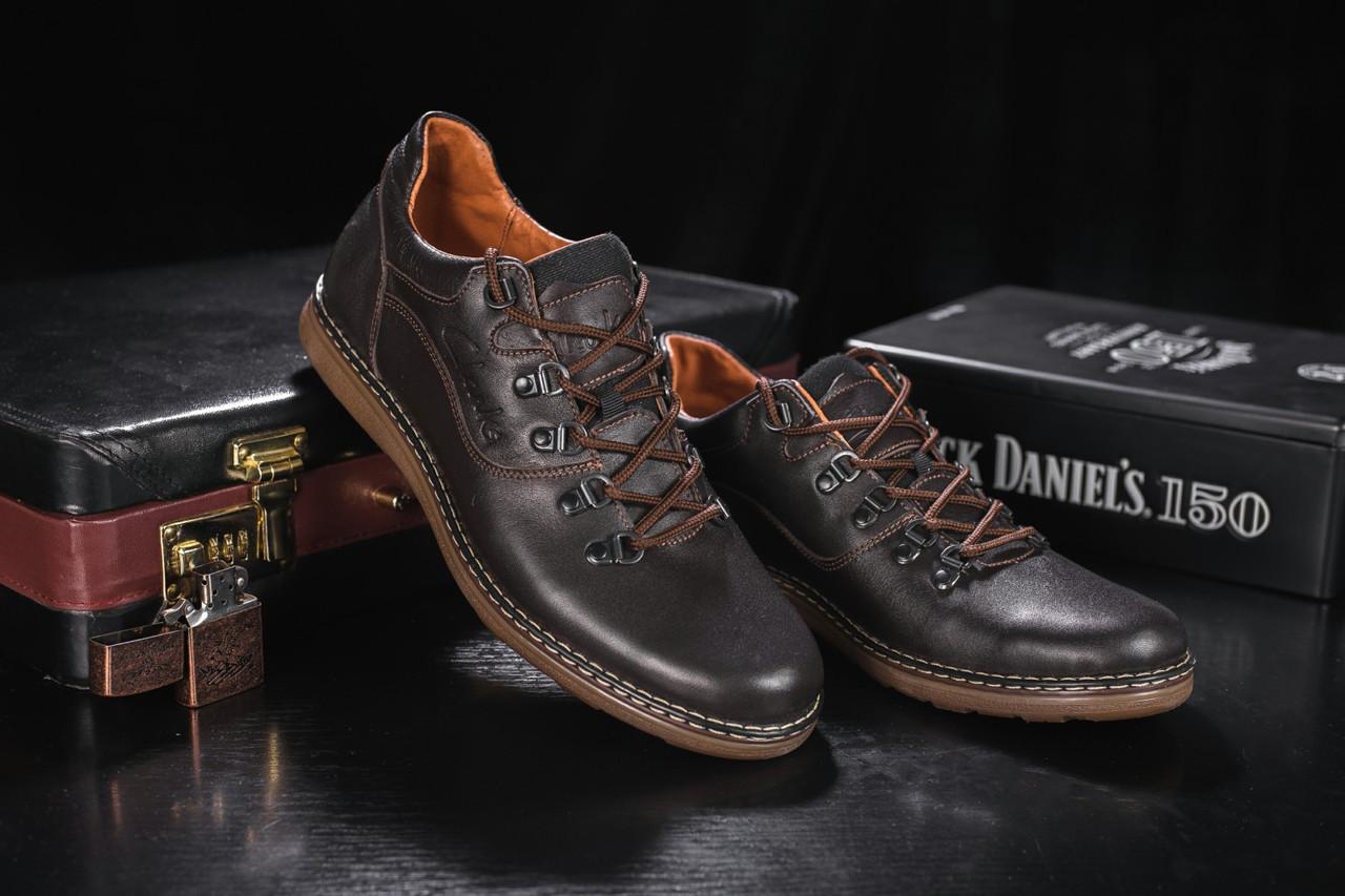 Мужские Повседневная обувь кожаные весна/осень коричневые Yuves 650