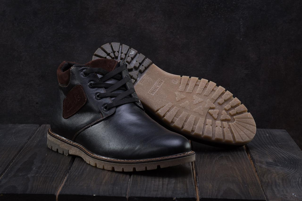 Ботинки мужские Yuves Z51 черные (натуральная кожа, зима)