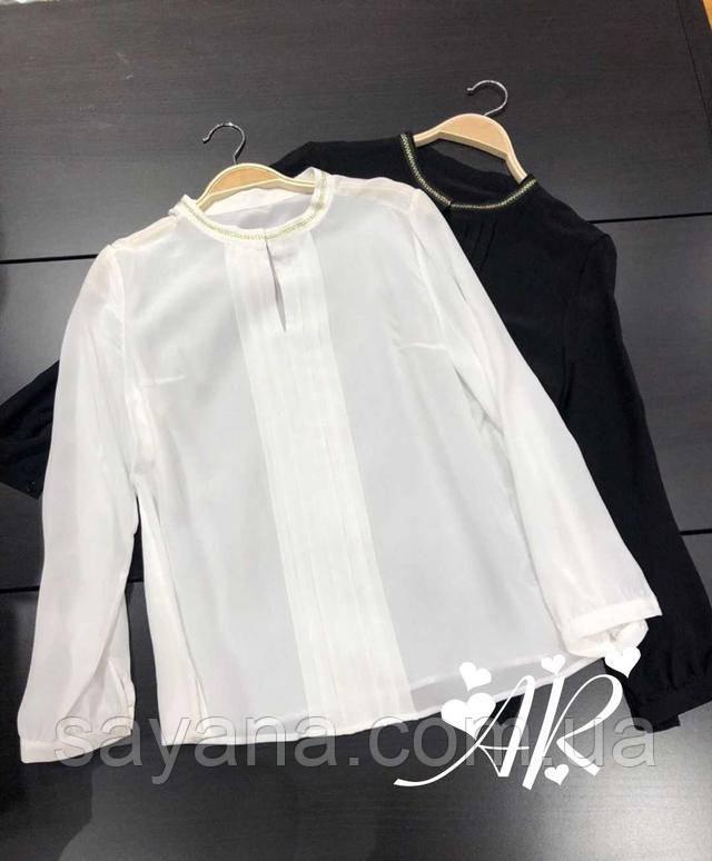 блуза с декором женская