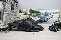 Шлепанцы мужские Bonis Original 47 черные (натуральная кожа, лето), фото 1