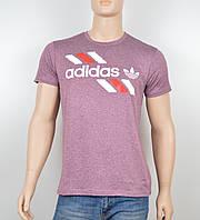 """Мужская футболка """"Вискоза"""" Adidas 1901 бордо"""