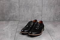 Туфли подростковые Yuves М5 (Trade Mark) черные (натуральная кожа, весна/осень), фото 1
