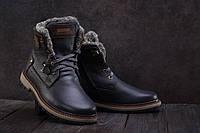 Ботинки мужские Zangak 137 синие (натуральная кожа, зима)