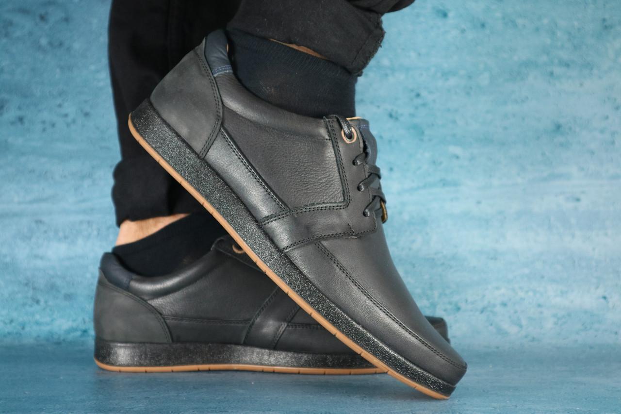Повседневная обувь мужские Shark T-450 черные (натуральная кожа, весна/осень)