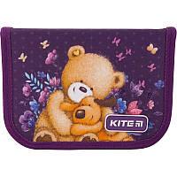 Пенал без наполнения Kite Education Popcorn the Bear PO19-622, 1 отделение, 2 отворота