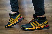 Кроссовки подростковые z23-п  черные (натуральная кожа, зима), фото 1