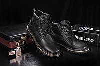 Ботинки мужские Yuves 444 черные (натуральная кожа, зима), фото 1
