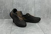 Кроссовки подростковые CrosSAV 38 черные (натуральная кожа, весна/осень), фото 1