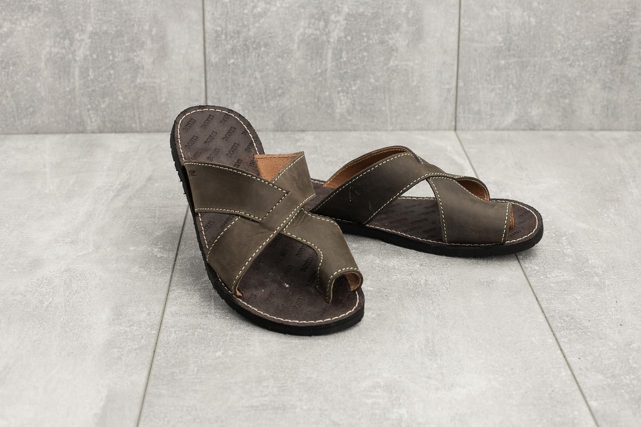Шлепанцы Bonis Original 33 (лето, мужские, натуральная кожа, коричневый)