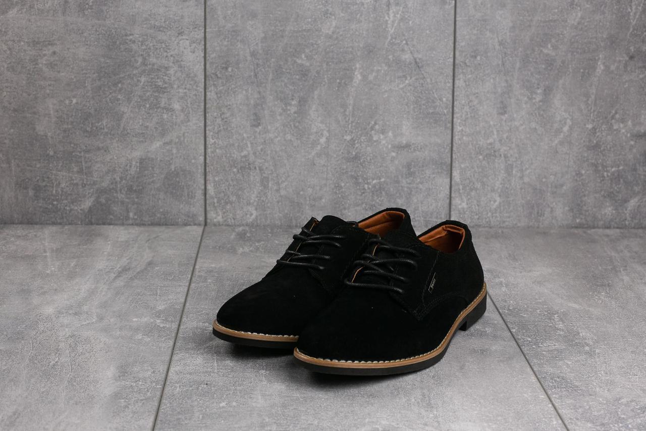 Туфли Yuves М5 (Trade Mark) (весна/осень, подростковые, замша, черный)