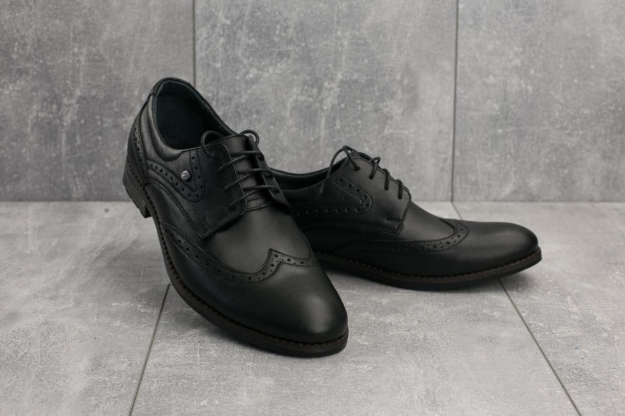 Туфли Vivaro 611 (Oxford) (весна/осень, мужские, натуральная кожа, черный)