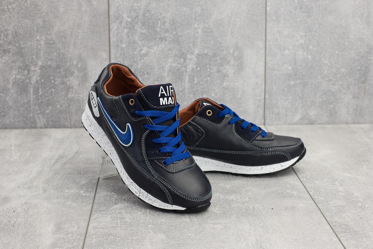 Кроссовки Yuves Rex-Nike (весна/осень, подростковые, натуральная кожа, синий)