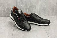 Кроссовки мужские Yuves R 250 черные (натуральная кожа, весна/осень), фото 1