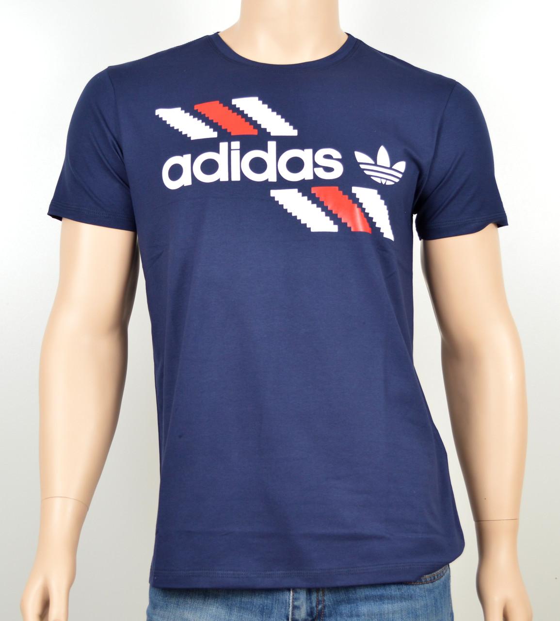 "Мужская футболка ""Adidas 1901"" синий"