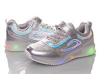 Детские светящиеся LED кроссовки на девочку BBT Размеры 26 29 30
