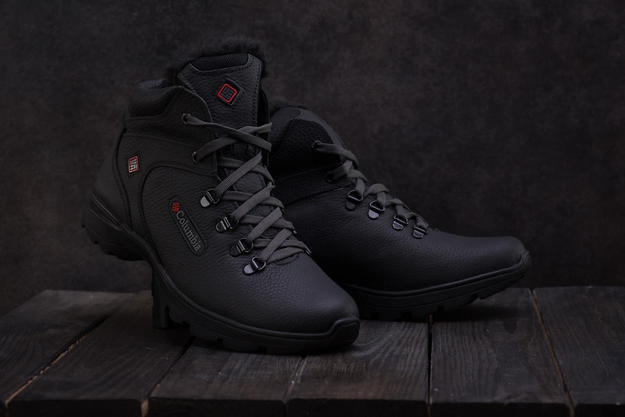 Ботинки Yavgor 601 (Columbia) (зима, мужские, натуральная кожа, черный)