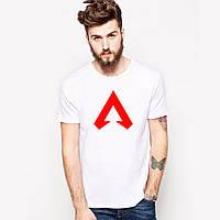 Белая футболка мужская Апекс Легенд Apex Legends