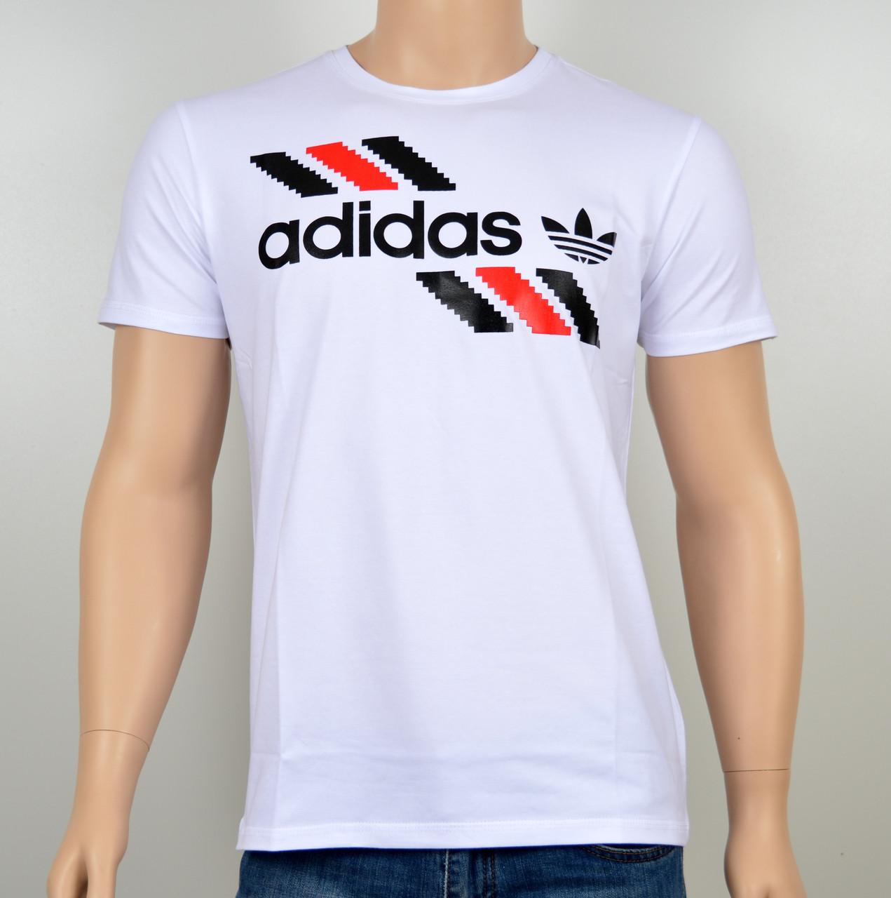 "Мужская футболка ""Adidas 1901"" белый"