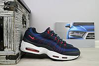 Кроссовки 9387 -2 (Nike AirMax) (весна/осень, мужские, текстиль, синий), фото 1