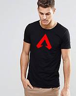 Мужская черная футболка игромана Апекс Легенд Apex Legends