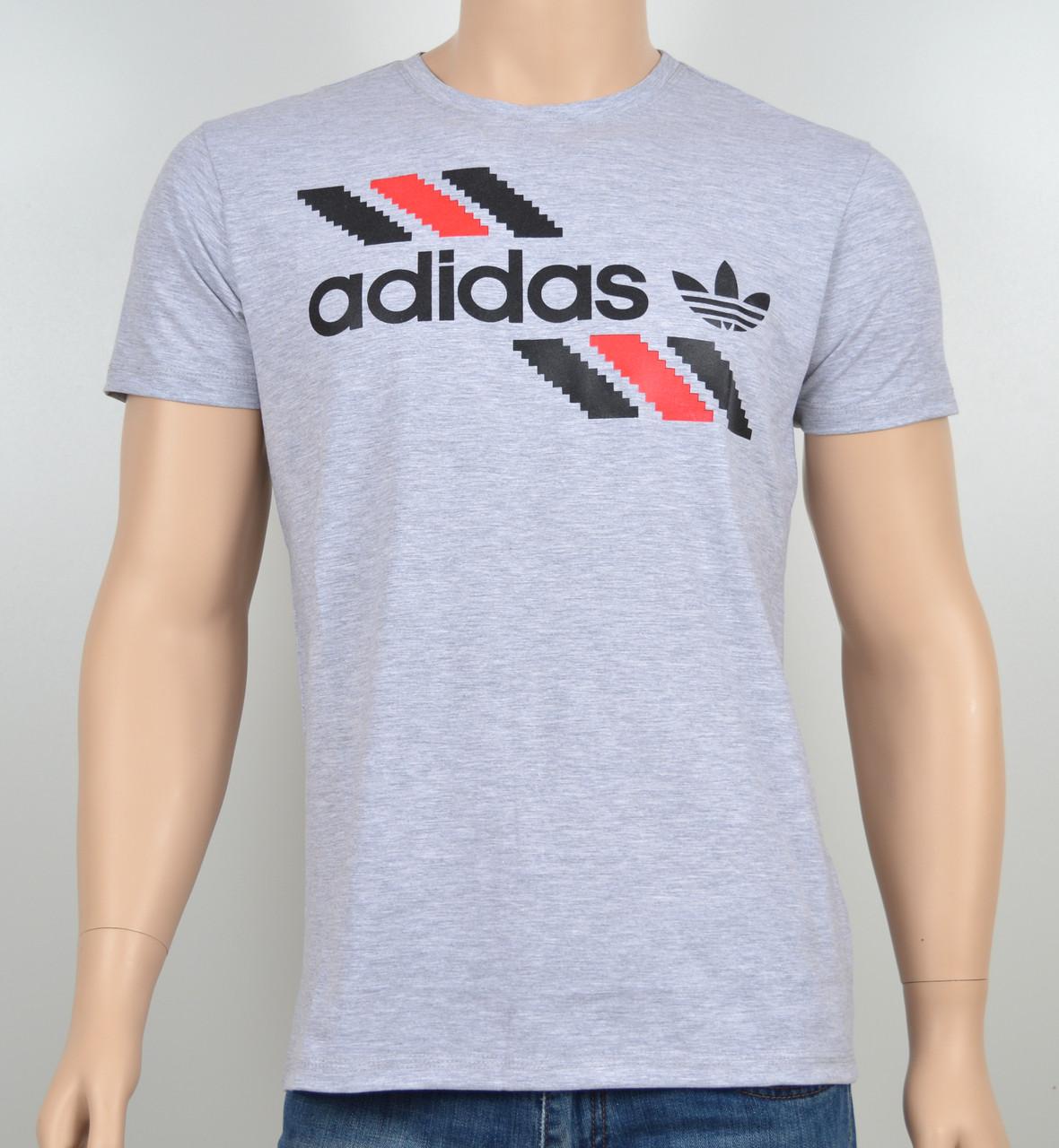 "Мужская футболка ""Adidas 1901"" меланж"