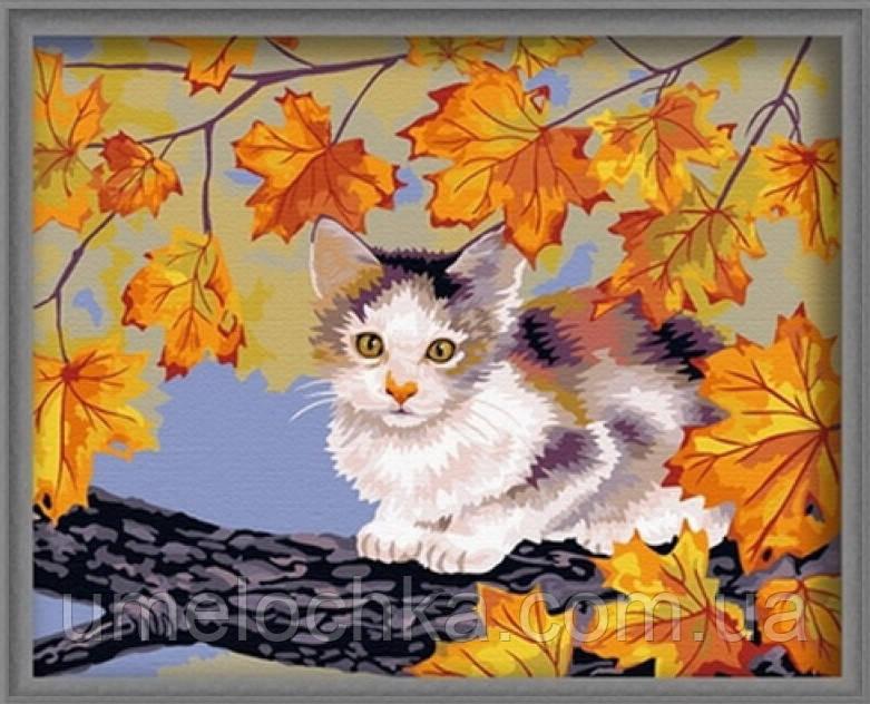 Раскраска по цифрам Идейка Непослушный котенок (КН021) 40 х 50 см