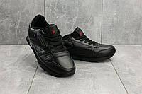 Мужские кроссовки кожаные весна/осень черные Ditof A 135 -15, фото 1