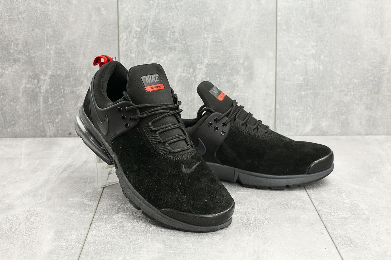 Кроссовки A 332 -1 (Nike Training) (весна/осень, мужские, замша, черный)
