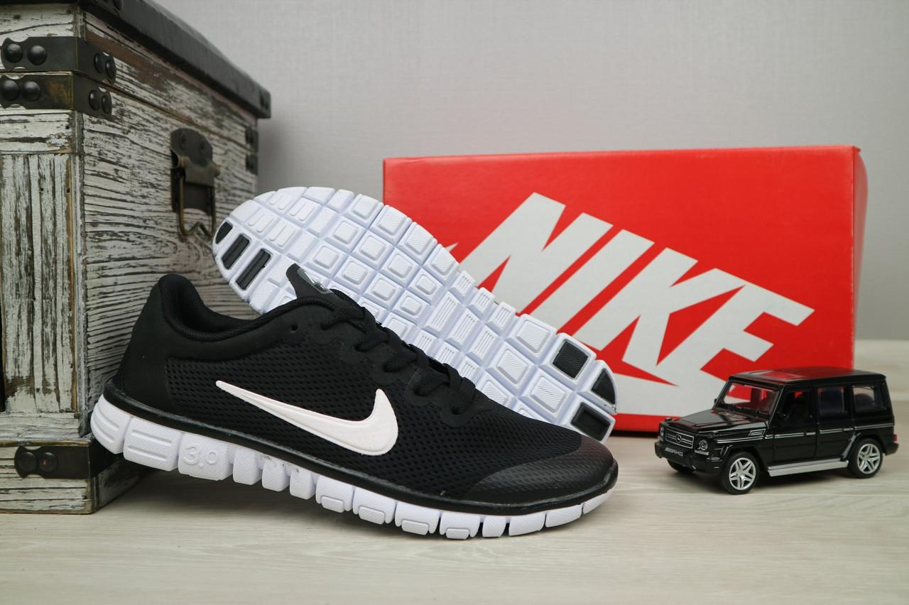 Кроссовки G 9385 -9 (Nike Free Run) (лето, мужские, текстиль, черный)
