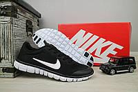 Кроссовки G 9385 -9 (Nike Free Run) (лето, мужские, текстиль, черный), фото 1