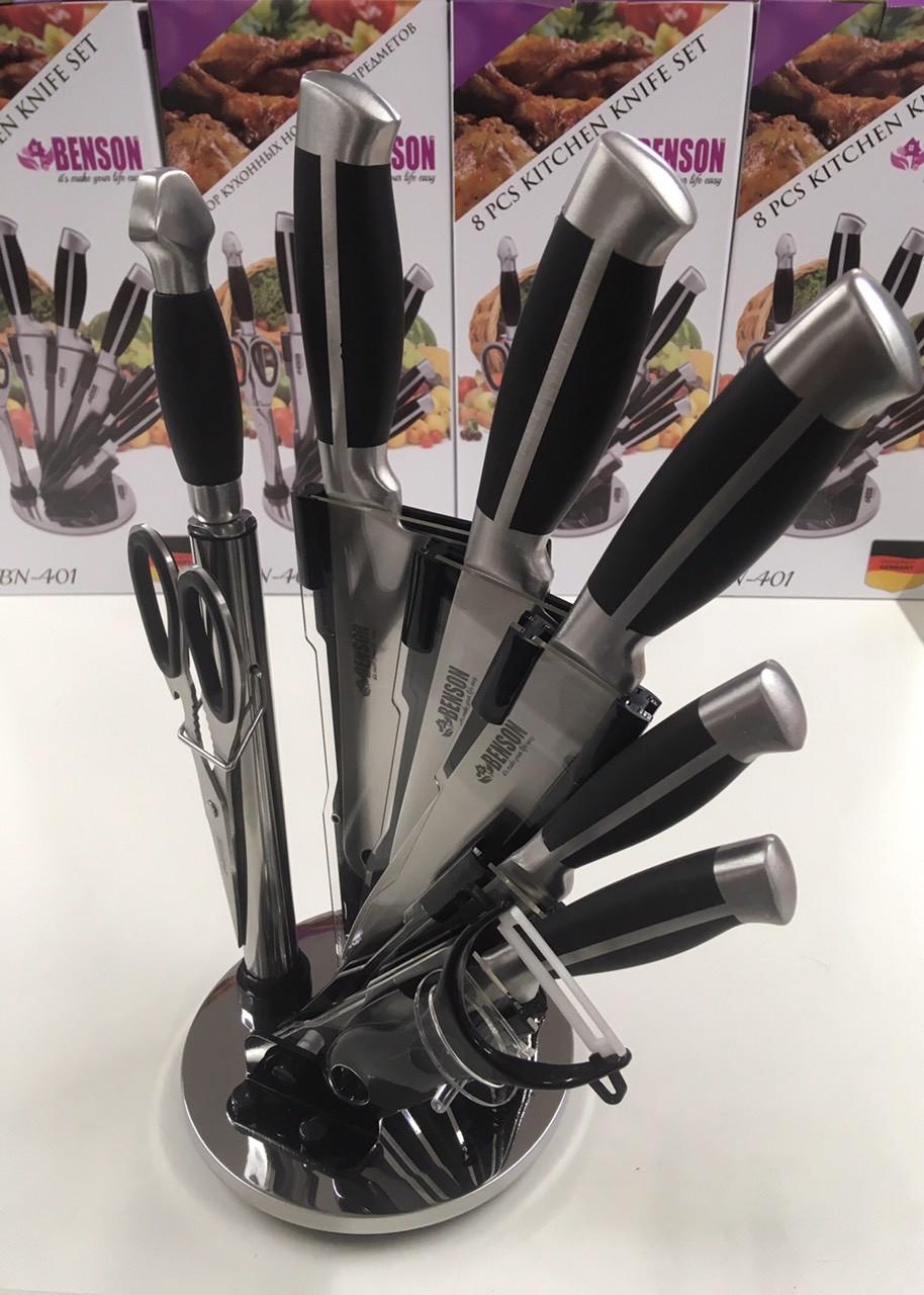 Набор ножей 8 предметов BENSON BN-401 (6 шт)