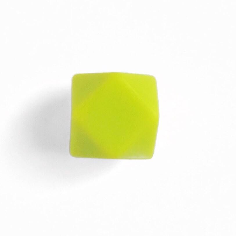 Гексагон 17мм (салатовый), силиконовые бусины