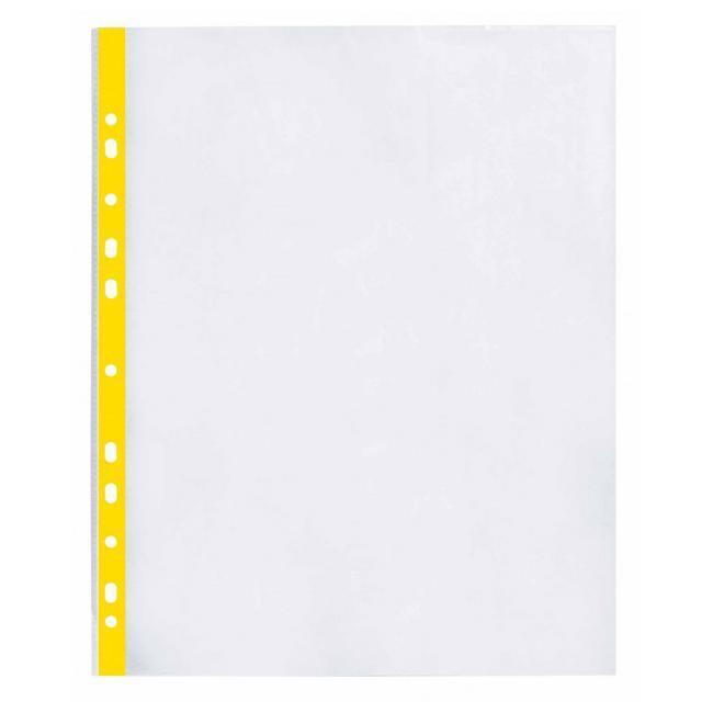Файл для документів А4+ 40 мкм глянець з жовтою стрічкою (20 шт/уп) O35109-05