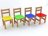 Стул детский деревянный цветной №3, фото 1