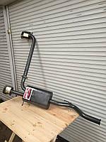 Раздвоенный двойной глушитель Muscle car для ВАЗ 2113,  ВАЗ 2114 без выреза бампера
