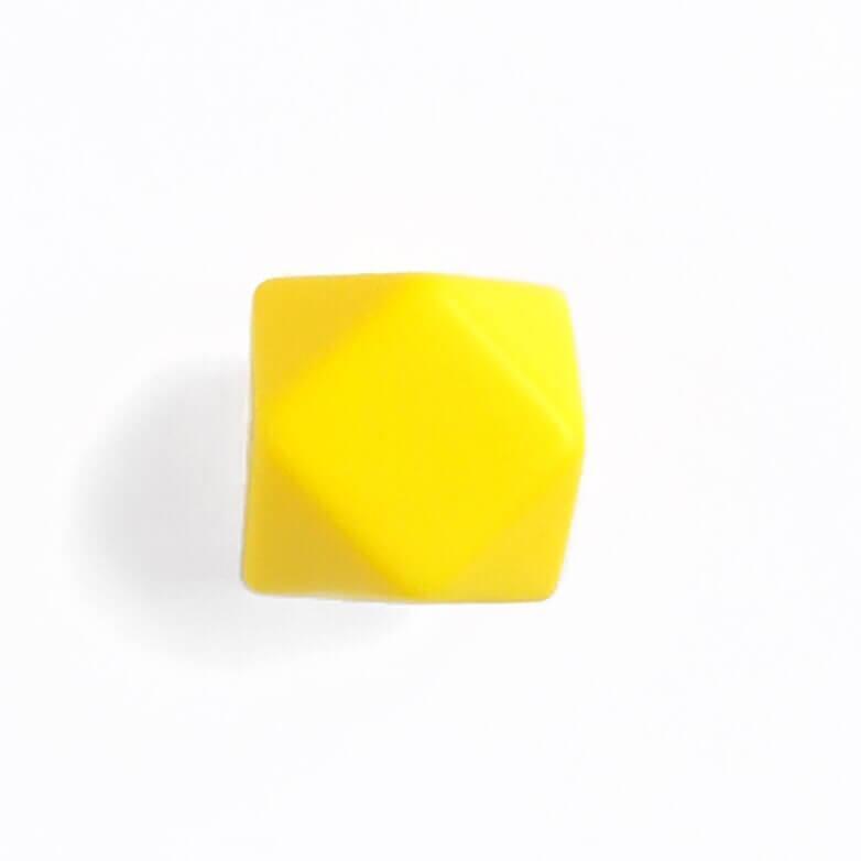 Гексагон 17мм (желтый), силиконовые бусины