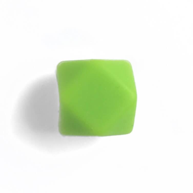 Гексагон 17мм (зеленый), силиконовые бусины