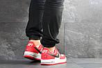 Мужские кроссовки Nike Air Force AF 1 (красно-белые), фото 3