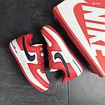 Мужские кроссовки Nike Air Force AF 1 (красно-белые), фото 5