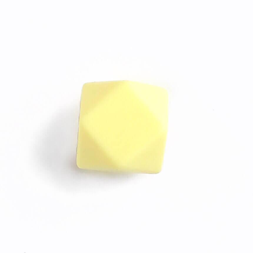 Гексагон 17мм (кремовый), силиконовые бусины
