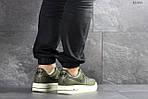 Мужские кроссовки Nike Air Force AF 1 (темно-зеленые), фото 2