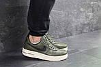 Мужские кроссовки Nike Air Force AF 1 (темно-зеленые), фото 3
