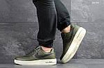 Мужские кроссовки Nike Air Force AF 1 (темно-зеленые), фото 4