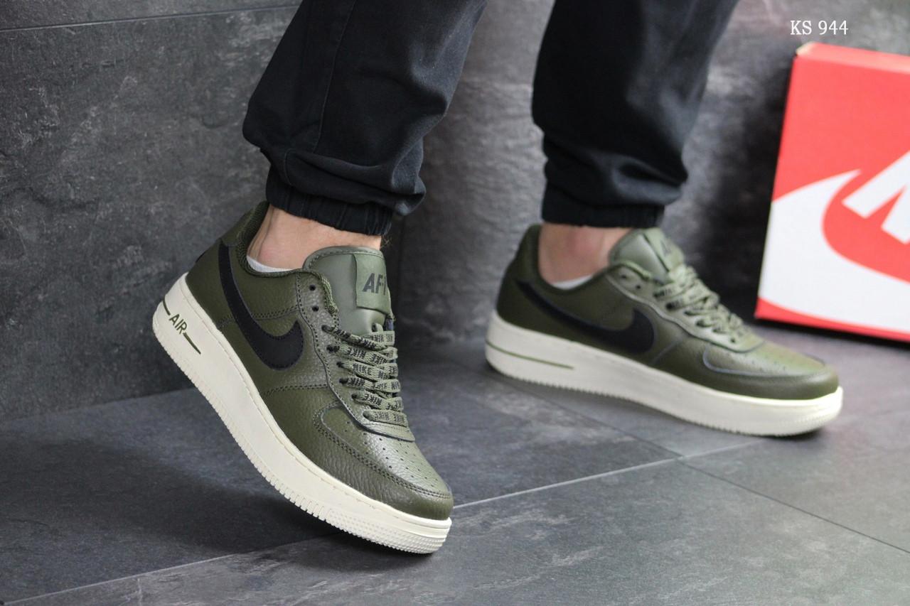 Мужские кроссовки Nike Air Force AF 1 (темно-зеленые)