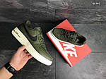 Мужские кроссовки Nike Air Force AF 1 (темно-зеленые), фото 6